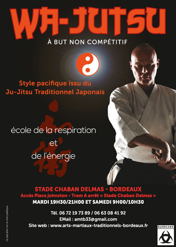Publicité WaJutsu Adultes AMTB Bordeaux Ju-Jitsu Traditionnel